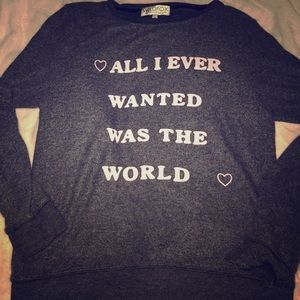 All I Ever Wanted Was The World - Wildfox Sweater